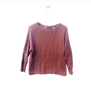 margaret o'leary / long sleeve knit scoop top
